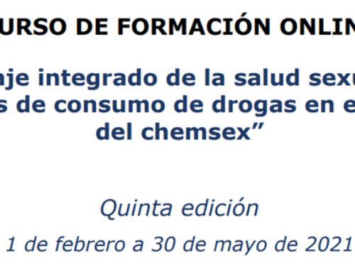 """Curso de Formación online: """"Abordaje integrado de la salud sexual y los problemas de consumo de drogas en el contexto del chemsex"""""""